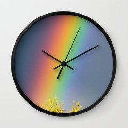 Rainbow Heaven Wall Clock