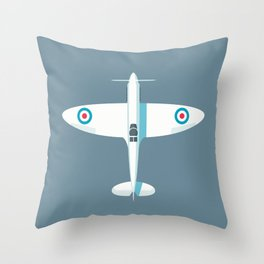 Spitfire WWII fighter aircraft - Slate Throw Pillow