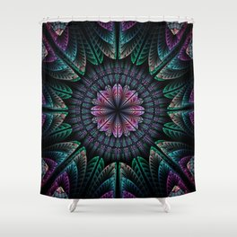 Magical dream flower, fractal abstract Shower Curtain