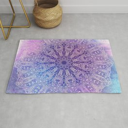 big paisley mandala in light purple Rug
