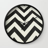 minimalist Wall Clocks featuring Twin Peaks Minimalist Poster by Kristjan Lyngmo