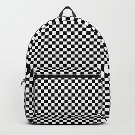 Simple checkerboard background Backpack