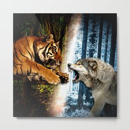 Of Fangs and Claw Metal Print
