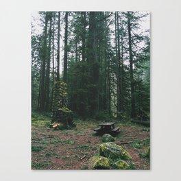 Unresolved Campsite Canvas Print