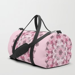 Crystals Succulents Mandala PINK Duffle Bag