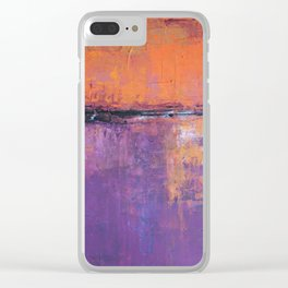 Poetic City - Urban Abstract Painting Clear iPhone Case