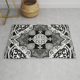 Ethnic Folk Art Boho Style Mandala  Rug