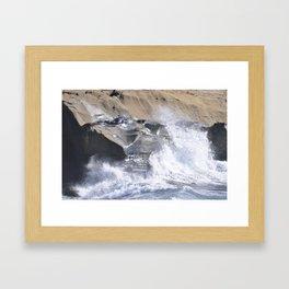SPLASHING OCEAN WAVE Framed Art Print