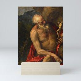 "Veronese (Paolo Caliari) ""Saint Jerome meditating"" Mini Art Print"