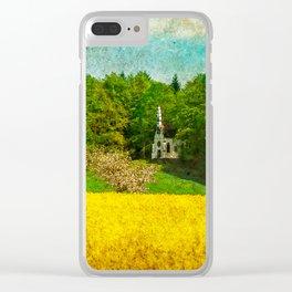 spring in upper Swabia Clear iPhone Case