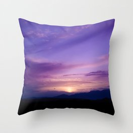 SW Mountain Sunrise - 7 Throw Pillow