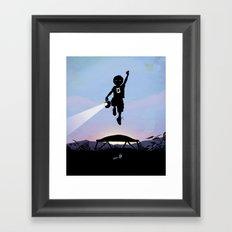 Green Lantern Kid Framed Art Print