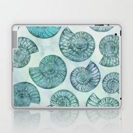 Shimmering Underwater Shell Scenery Aqua Colors Laptop & iPad Skin