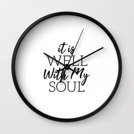 Fear Is A LIAR Inspirational Christian quote Wall Clock