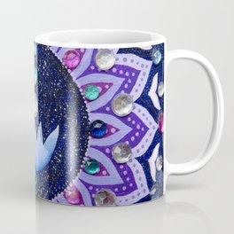 Lotus and Moon Phases Jewelled Mandala Coffee Mug