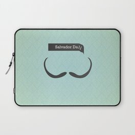 Salvador Dali (Famous mustaches and beards) Laptop Sleeve