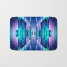 Cavernous Glitch - Abstract Pixel Art Bath Mat