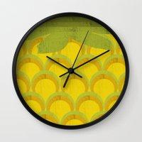 pineapple Wall Clocks featuring Pineapple by Kakel