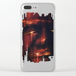 Red I Clear iPhone Case