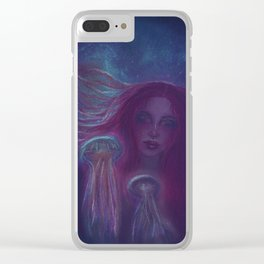 Under the water Clear iPhone Case