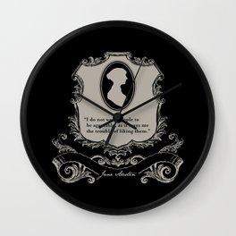 Jane Austen Snarky Quote Wall Clock