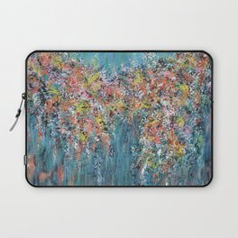 Blue Confetti, Blue Abstract Laptop Sleeve