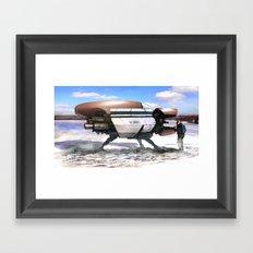 Winter shuttle 2154 Framed Art Print