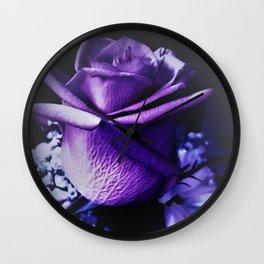 Sweet Beginnings In Purple Rose Wall Clock