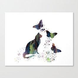 Colorful Cat Art Canvas Print