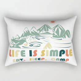Camping. Eat. Sleep. Camp Rectangular Pillow