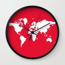 Geranium Elegant World Wall Clock