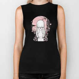 invisible girl Biker Tank