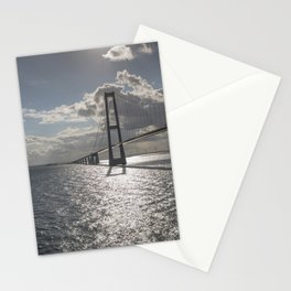 Suspension bridge Great Belt Denmark connecting the Zealand and Funen Stationery Cards