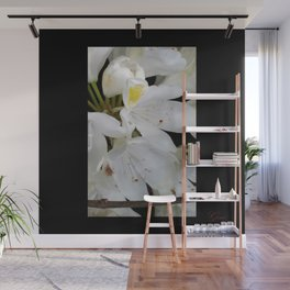 White Flowers Wall Mural