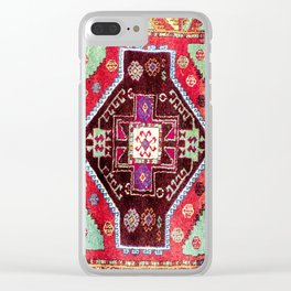 Malatya  Antique Turkish Rug Print Clear iPhone Case