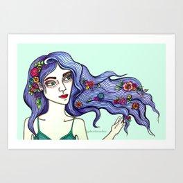 Forrest Nymph  Art Print