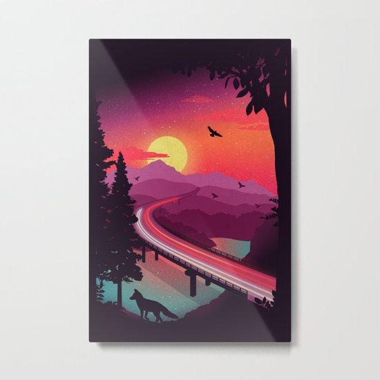 Passing Through Metal Print