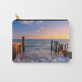 Rushing Waves at Sunset Carry-All Pouch