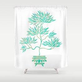 Bonsai Tree – Mint Palette Shower Curtain