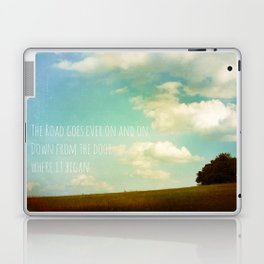 the road goes ever on Laptop & iPad Skin