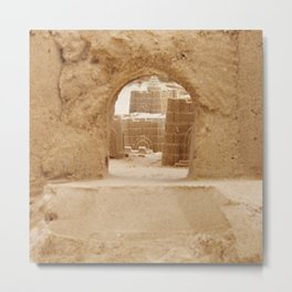 Sand Castle Inside Metal Print