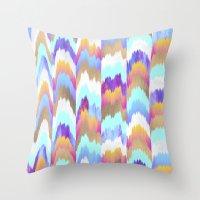 glitch Throw Pillows featuring Glitch by Elisabeth Fredriksson