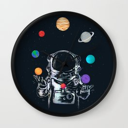 Space Circus Wall Clock