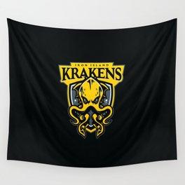 Iron Island Krakens Wall Tapestry