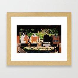 Rusty Line-Up Framed Art Print