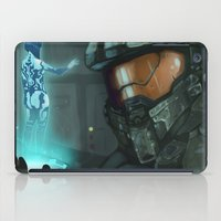 master chief iPad Cases featuring Master Chief and Cortana by IdentityPollution