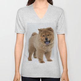 Chow Chow Puppy Unisex V-Neck