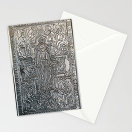 silver religious book cover Stationery Cards