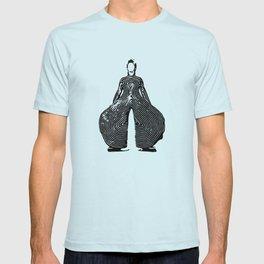 Bowie pattern bw T-shirt