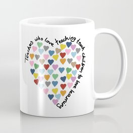 Hearts Heart Teacher Coffee Mug